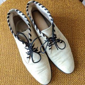 Escada cream suede chukka desert ankle boots 6.5 7